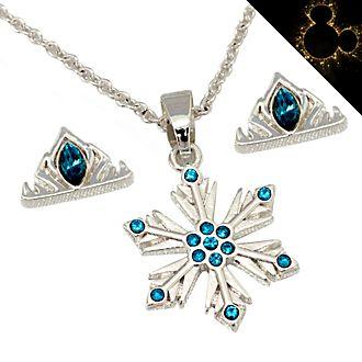 Set collana e orecchini placcati argento Elsa Disney Store