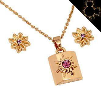 Set collana e orecchini placcati oro rosa Rapunzel - L'Intreccio della Torre Disney Store