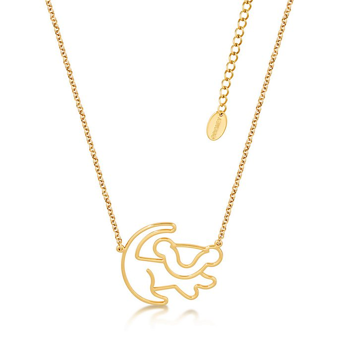 Couture Kingdom Collier en plaqué or Simba, Le Roi Lion