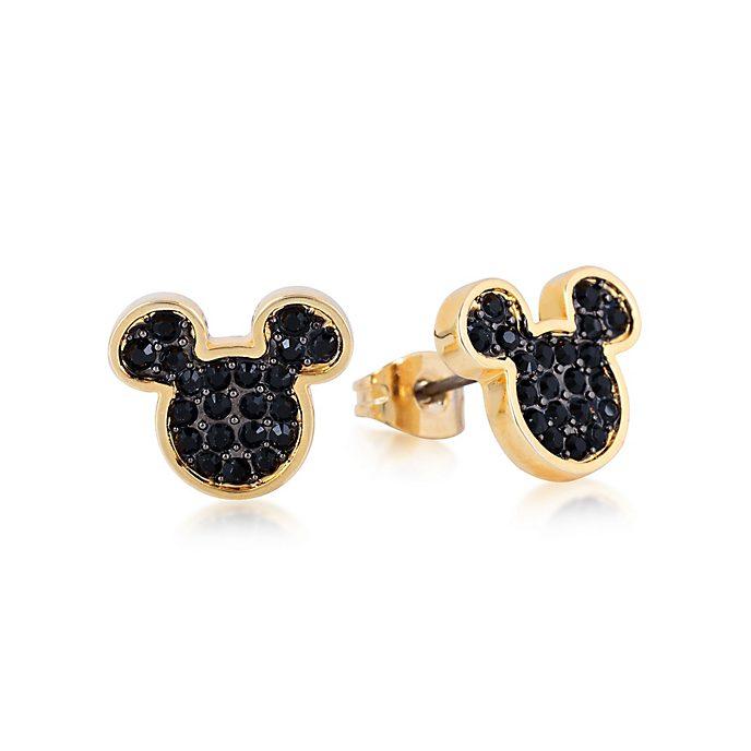 Orecchini a bottone placcati oro con cristallo Topolino, Couture Kingdom