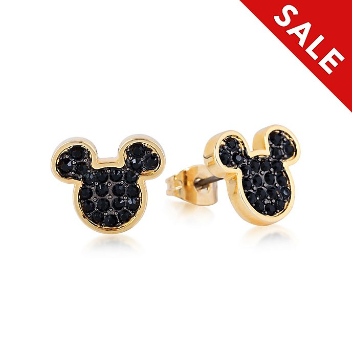 Couture Kingdom Mickey Mouse Yellow Gold-Plated Crystal Stud Earrings