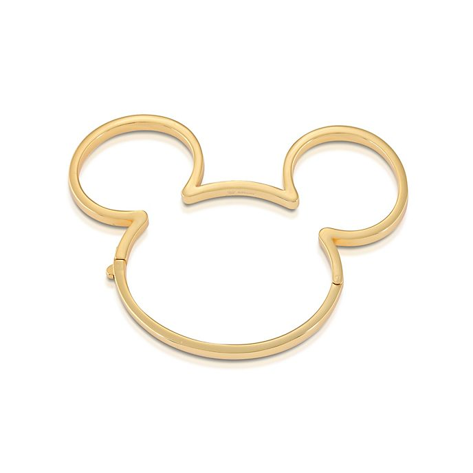 Brazalete bañado en oro Mickey Mouse, Couture Kingdom