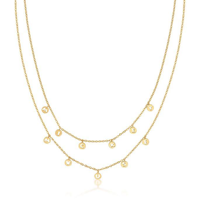 Collana placcata oro giallo Topolino Couture Kingdom