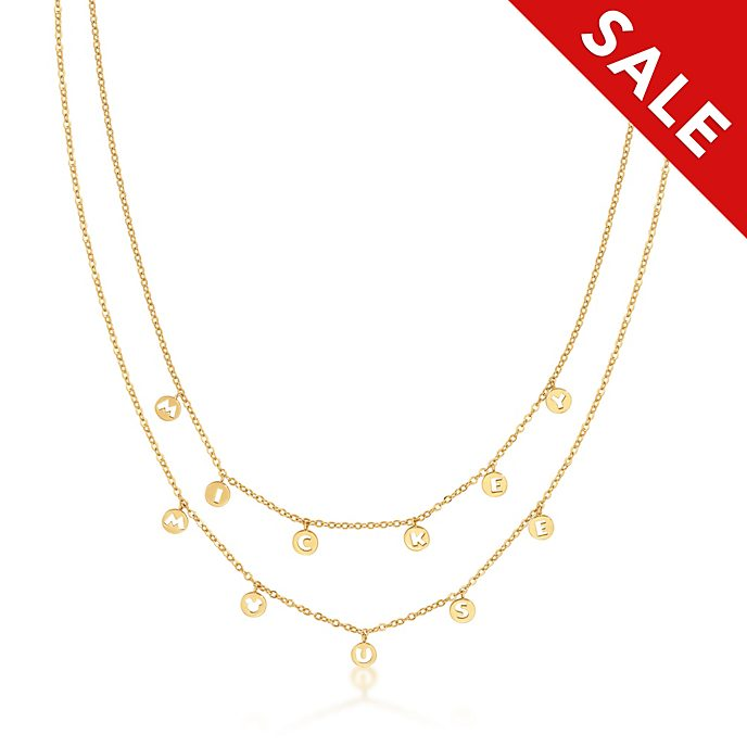 Couture Kingdom Mickey Mouse Yellow Gold-Plated Necklace