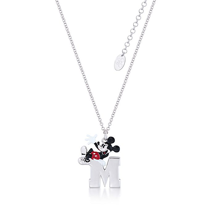 Couture Kingdom Collier plaqué or blanc à pendentif Mickey Mouse