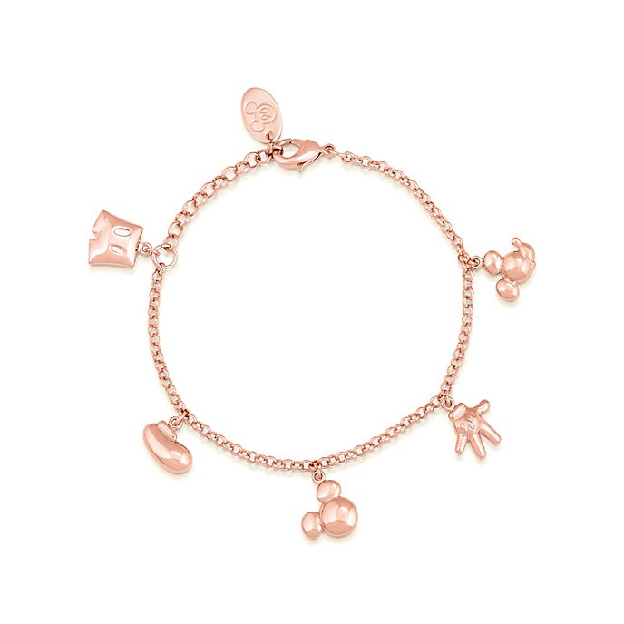 Couture Kingdom Bracelet Mickey Mouse plaqué or rose à breloques