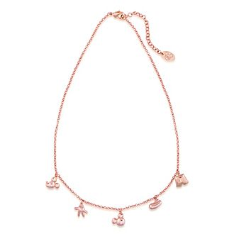 Collana placcata oro rosa con ciondoli Topolino, Couture Kingdom