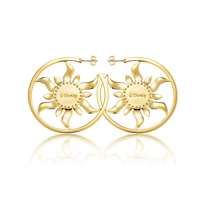 Couture Kingdom Rapunzel Gold-Plated Hoop Earrings, Tangled