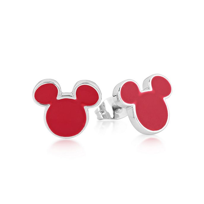 Couture Kingdom Mickey Mouse White Gold-Plated Stud Earrings