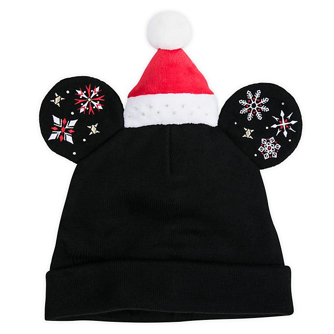 Disney Store Bonnet en tricot Mickey pour adultes, Holiday Cheer