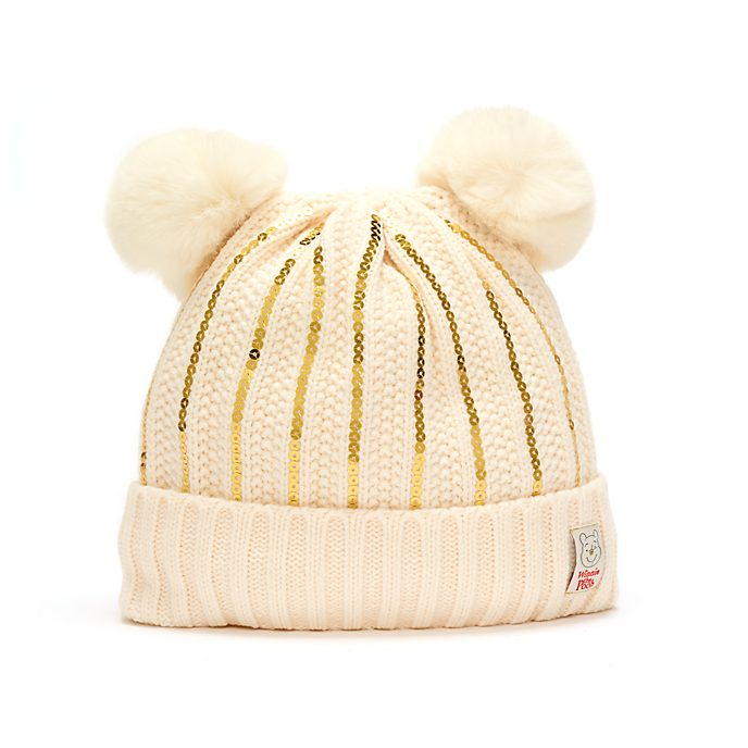 Disney Store Bonnet en tricot Winnie l'Ourson pour adultes