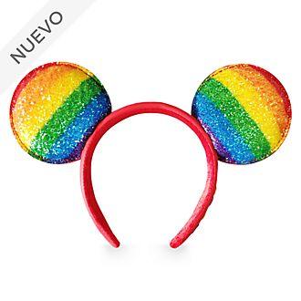 Diadema con orejas Mickey Mouse, Rainbow, para adultos, Disney Store