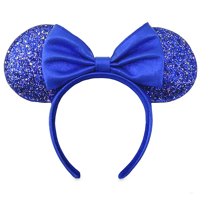 Walt Disney World Minnie Mouse Wishes Blue Ears Headband For Adults