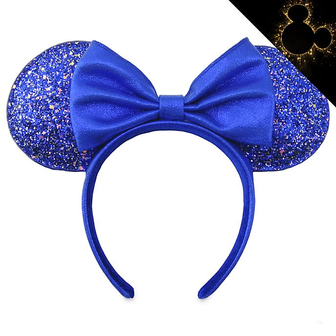 Disney Store Serre-tête oreilles de Minnie pour adultes, Wishes Blue Colour Story