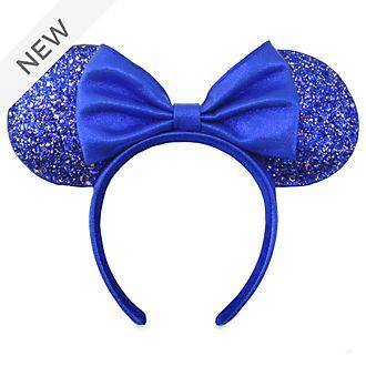 Walt Disney World Minnie Mouse Wishes Blue Ears Headband For Adults