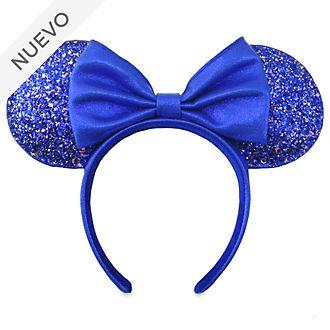 Diadema con orejas Minnie Mouse para adultos, Wishes Blue, Disney Store