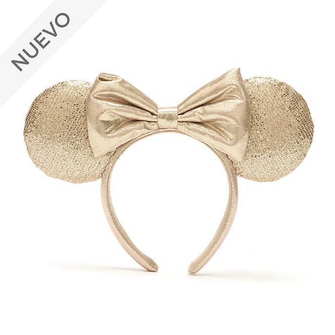 Walt Disney World diadema con orejas color champán Minnie Mouse para adultos