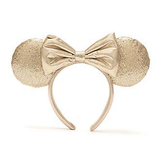 Walt Disney World Serre-tête à oreilles de Minnie avec sequins champagnes pour adultes