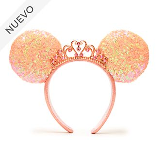 Walt Disney World diadema con orejas Minnie Mouse para adultos, princesas Disney