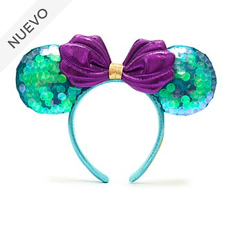 Walt Disney World diadema con orejas Minnie Mouse para adultos, La Sirenita