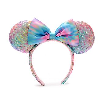Walt Disney World Minnie Mouse Pastel Sequin Ears Headband For Adults