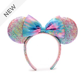 Walt Disney World Minnie Mouse Pastel Sequin Ears Headband For Adults