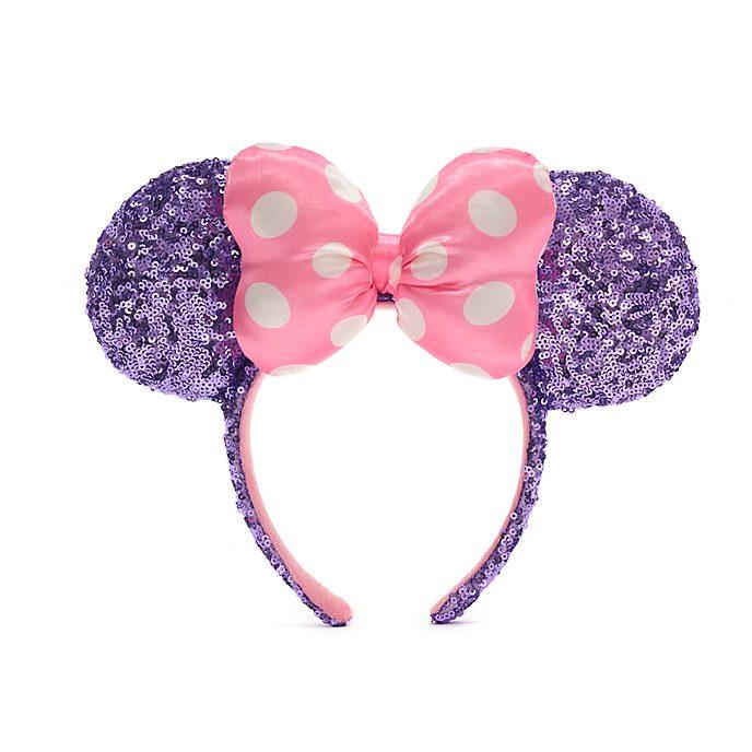 Cerchietto adulti orecchie Minni paillettes rosa e viola Walt Disney World