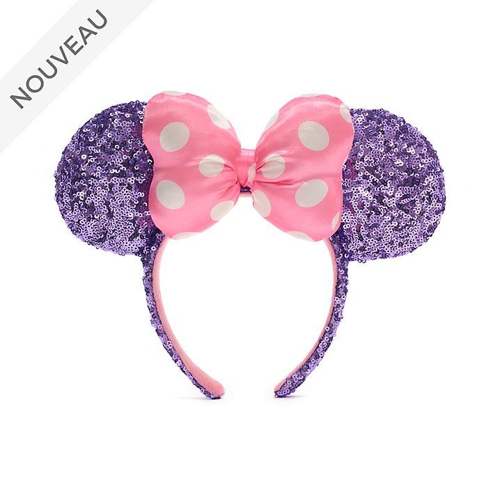 Walt Disney World Serre-tête à oreilles de Minnie avec sequins roses et violets pour adultes