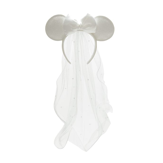 Walt Disney World Minnie Mouse Bridal Ears Headband for Adults