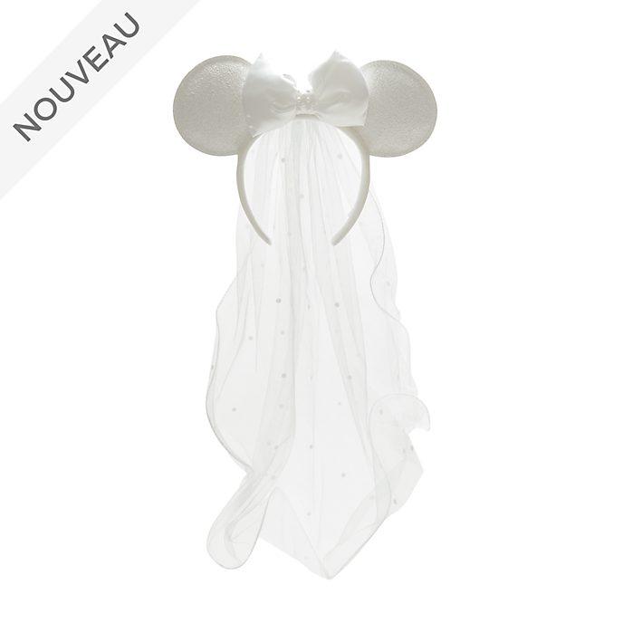 Walt Disney World Serre-tête à oreilles de Minnie jeune mariée pour adultes