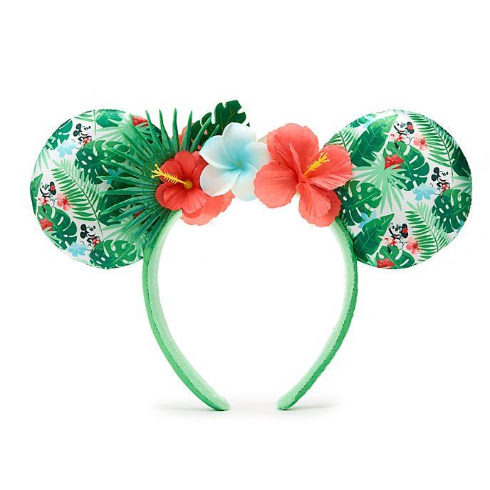 Walt Disney World diadema con orejas para adultos, Minnie Mouse Tropical Hideaway