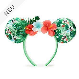 Walt Disney World - Minnie Maus - Paillettenbesetzter Haarreif mit Ohren im tropischen Stil für Erwachsene