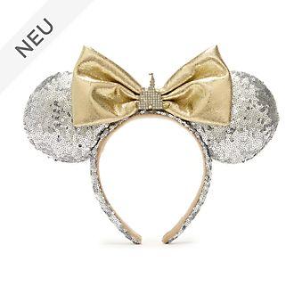 Walt Disney World - Minnie Maus - Haarreif mit Ohren und Schlossmotiv für Erwachsene