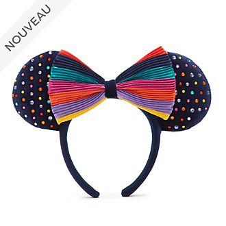 Walt Disney World Serre-tête à oreilles de Minnie Arc-en-ciel pour adultes