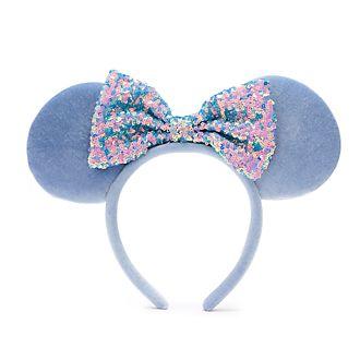 Walt Disney World diadema con orejas y lentejuelas azul aciano Minnie Mouse para adultos