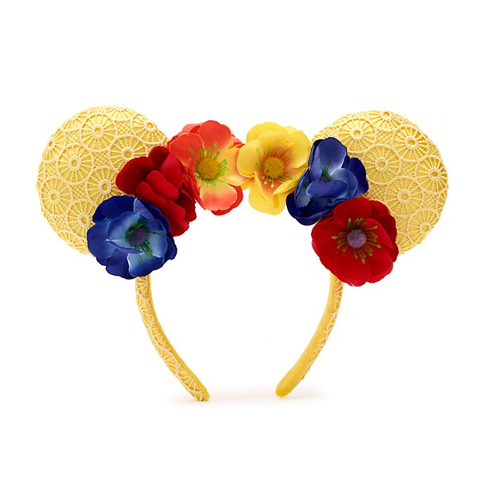 Walt Disney World Minnie Mouse Poppies Ears Headband For Adults
