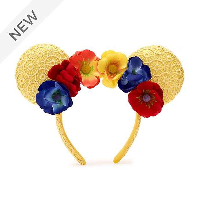 Walt Disney World Minnie Mouse Poppies Ears Headband For Adults