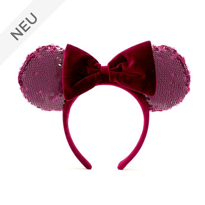 Walt Disney World - Minnie Maus - Haarreif mit Ohren in Bordeauxrot für Erwachsene