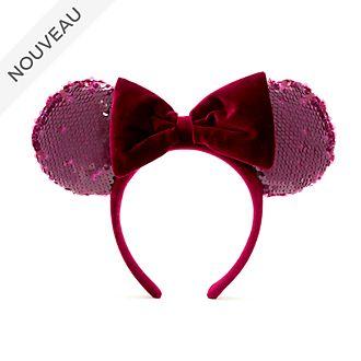 Walt Disney World Serre-tête à oreilles de Minnie Bordeaux pour adultes