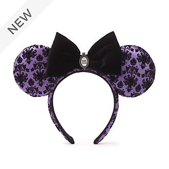 Walt Disney World Minnie Mouse The Haunted Mansion Ears Headband For Adults
