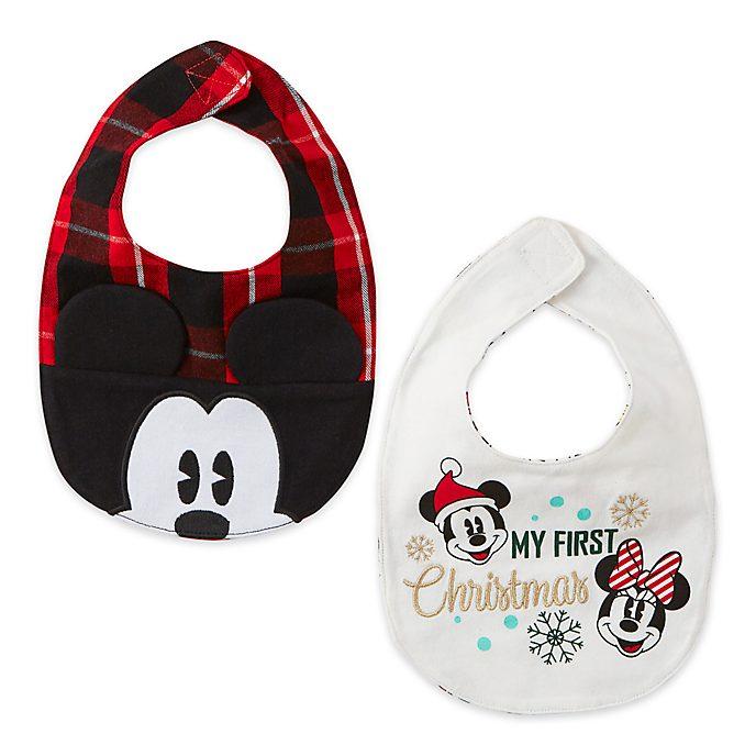 Disney Store - Holiday Cheer - - Micky und seine Freunde - Babylätzchen, 2er-Pack