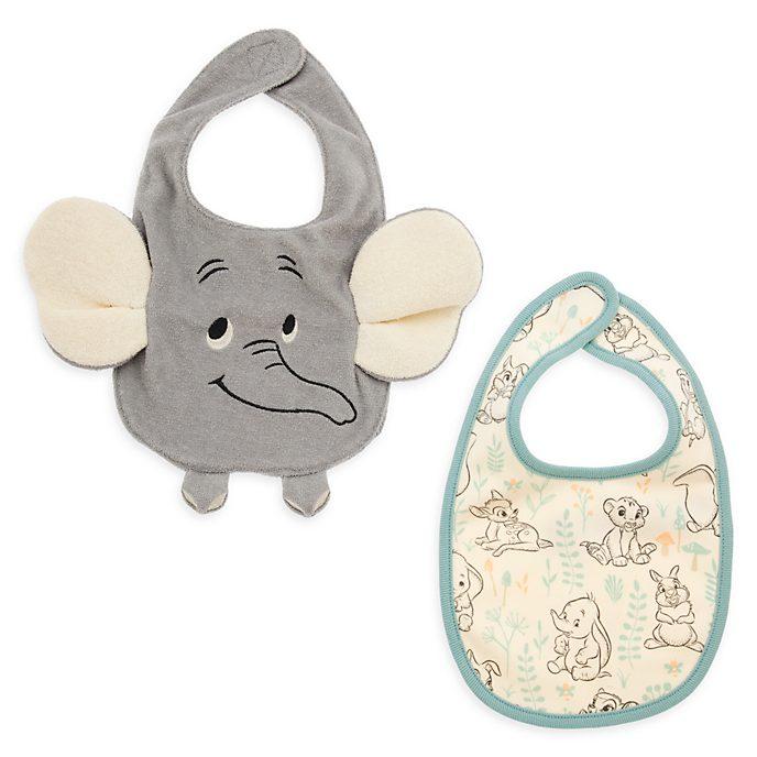 Bavaglini baby Dumbo, Bambi e Simba Disney Store, confezione da 2