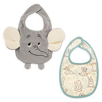 Disney Store Lot de 2bavoirs Bambi, Dumbo et Simba pour bébé