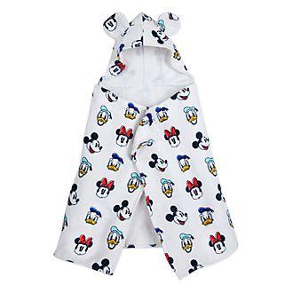 Toalla de baño con capucha Mickey y sus amigos para bebé, Disney Store