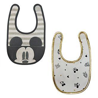 Bavaglini baby Topolino e i suoi amici Disney Store, confezione da 2