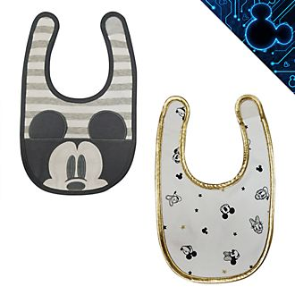 Disney Store Mickey and Friends Baby Bibs, 2 Pack
