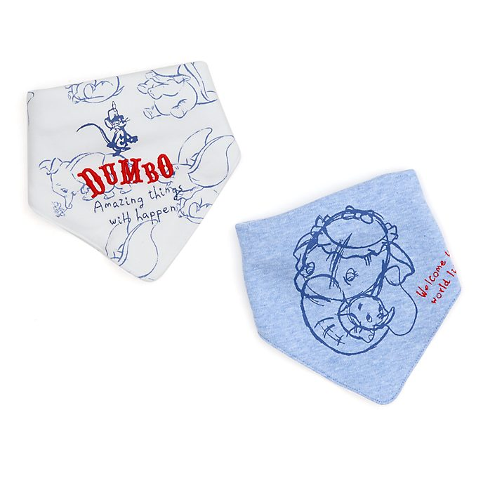 Disney Store Dumbo Baby Bibs, 2 Pack