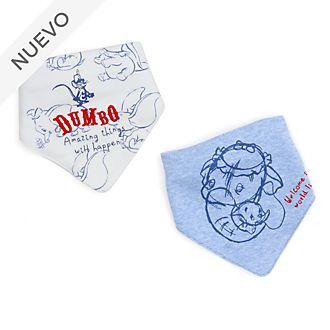 Baberos Dumbo para bebé, Disney Store (2 u.)