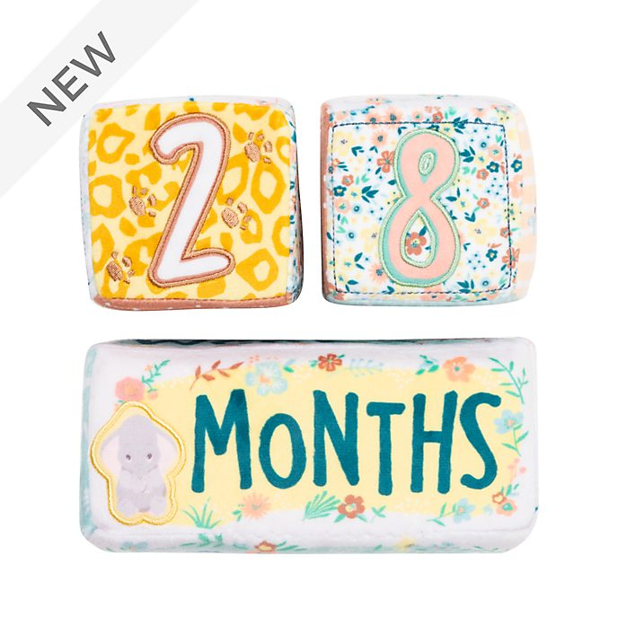 Disney Store Dumbo, Bambi and Simba Baby Milestone Soft Blocks