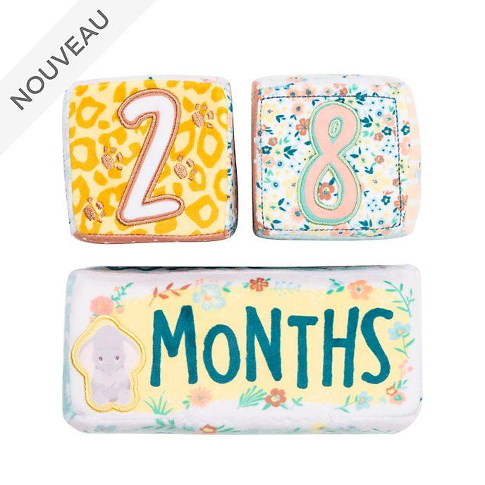 Disney Store Cubes calendrier en peluche Bambi, Dumbo et Simba pour bébé